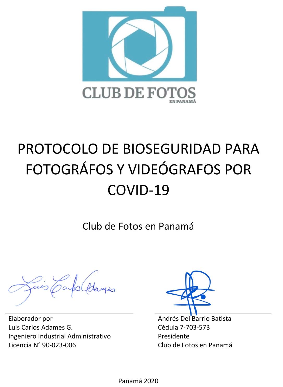 Primera página del Plan de Prevencion y Gestion de Riesgos Profesionales COVID-19